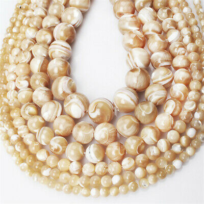 Nature Shell Stone Beads Diy Accessories Opaque Craft Styles Gemstone Hole