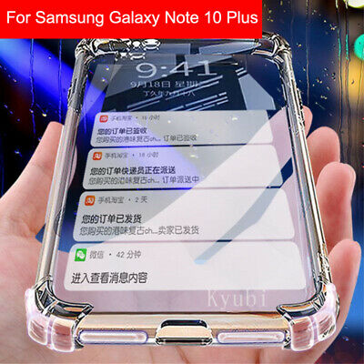 For Samsung Galaxy Note 10 Plus S10 Shockproof Case Bumper Clear Silicone Cover&