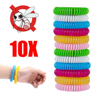 10Pack Natural Mosquito Repellent Bracelet Bug Insect Protection Deet-Free NEW