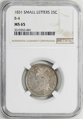 1831 Capped Bust 25C Ngc Ms 65