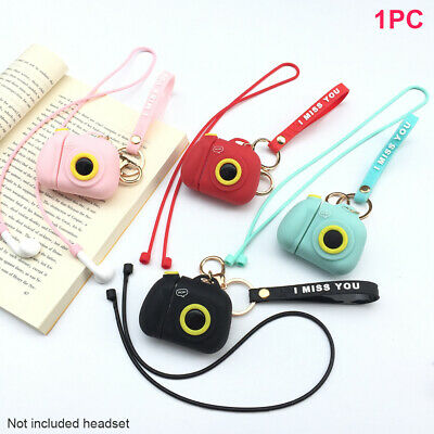 Cute Silicone Portable Shockproof Protective Case Set Soft for Apple Earphone