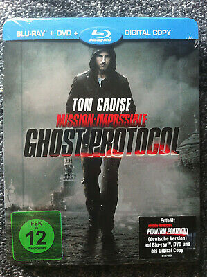 MISSION IMPOSSIBLE - GHOST PROTOCOL - Steelbook - Blu Ray Region ALL -Tom Cruise