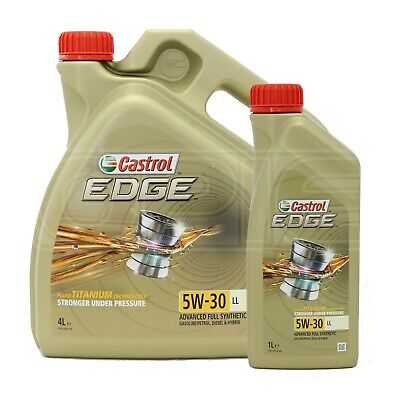 Castrol EDGE 5W-30 LL Advanced Full Synthetic Petrol & Diesel Engine Oil 5W30