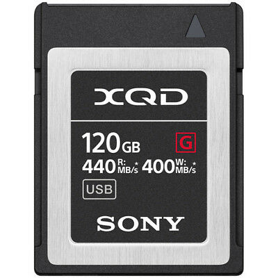 Brand New Unused Sony G Series 120GB XQD Memory Card Nikon D5 D4 D4S D500 Z6 Z7