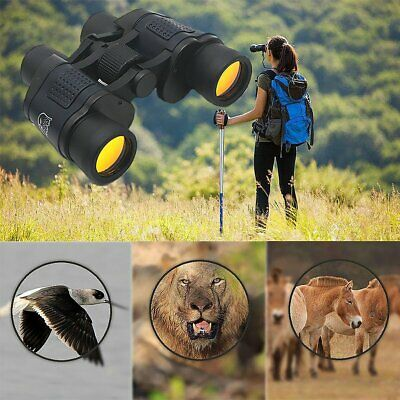 60 x 60 HD Zoom Telescope Day Night Vision Black Binoculars Outdoor Hunting UK