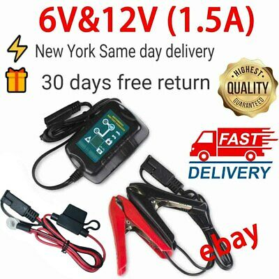 6V&12V 1.5A automatic battery charger maintainer charge For Boat Motorcycle Car