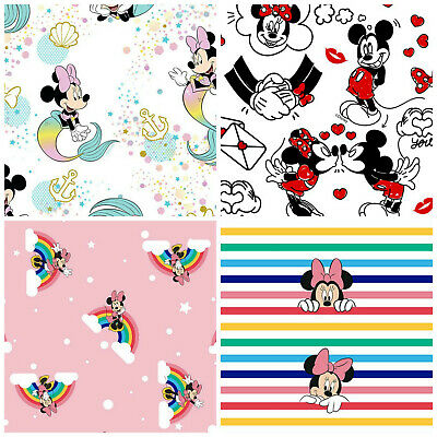 Disney Minnie Mouse 100% Cotton Fabrics, Sold by 1/2 Metre, 147cm Wide