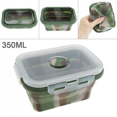 350ML Silicone Folding Lunch Bento Box Bowl Collapsible Storage Food Container
