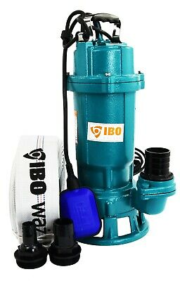 IBO FURY550 Submersible Sewage Dirty Water Septic Sump Pump + grinder + 30m hose