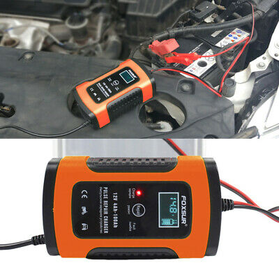 Car Battery Charger 12V 5A Automobile Motorcycle Intelligent Pulse Repair LCD UK