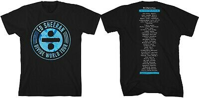 "ED SHEERAN ""Stamp, Divide World Tour"" New Authentic Official Licensed T-Shirt"