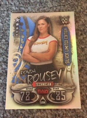 Topps Wwe Slam Attax Live 2018 Ronda Rousey Silver Limited Edition Card