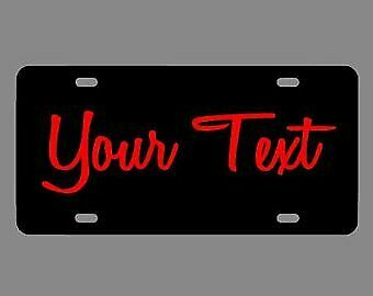 Personalized Name Picture License Plate Custom Aluminum License Plate Car Tag