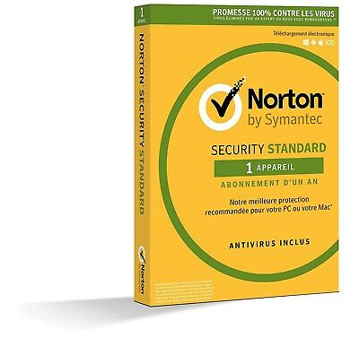 Antivirus Norton Security Standard 2019 pour 1 PC - 1 an