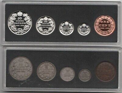 1908-1998 2 Sets Proof Silver Sets    Mirror And Antique Finish  Rcm Mint
