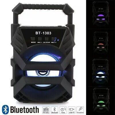 Cassa Portatile Radio Bluetooth Mp3 Fm Usb Tf Aux Ricaricabile Stereo Speaker Pc