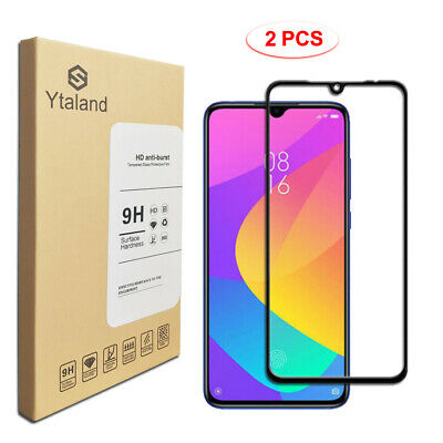 Ytaland 2PCS Full Glue Cover Tempered Glass Screen Protector For Xiaomi Mi A3