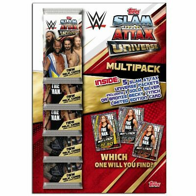 Topps WWE Slam Attax Universe 2019 Trading Cards Game Multi Pack new & Sealed