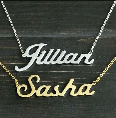 Any Personalised Name Necklace Silver Or Gold Extremely Popular In Celebrity Pop