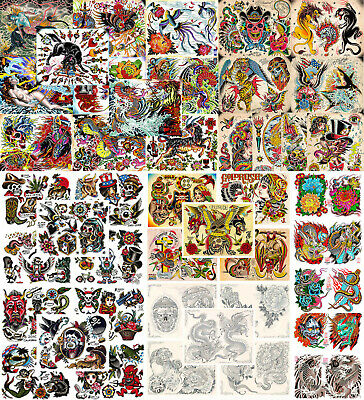 LOT OF 50 Sheets Japanese Chinese Female Girl Name Tattoo