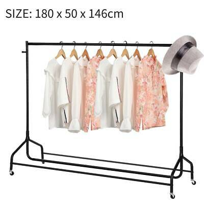 6ft Garment Clothes Rail Super Heavy Duty Rack Display Stand Home Shop Hanging