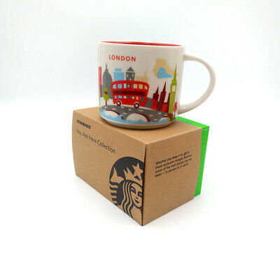 414ml Starbucks City YAH London Coffee Mug Cup You Are Here Collection in Box