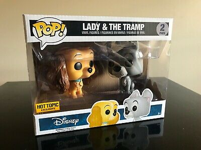 Funko Pop Disney Lady And The Tramp 2-pack SEALED Hot Topic Exclusive RARE