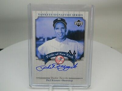 Phil Rizzuto HOF 2003 Upper Deck Yankees Signature Series Pride New York Auto