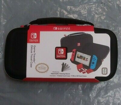 Nintendo Switch Game Traveler Deluxe Travel Case - Black color - fast shipping!