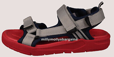 New Boys Blue Red Grey NEXT Sandals Size 12 13 Kids RRP £20