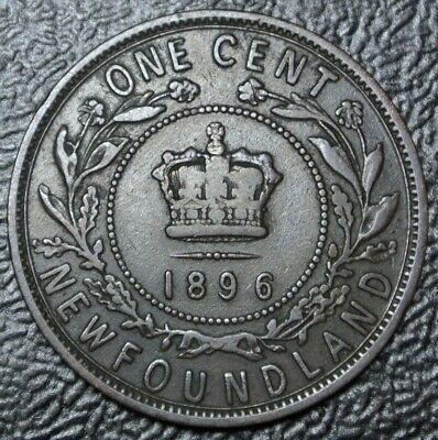 OLD CANADIAN COIN 1896 NEWFOUNDLAND - ONE CENT - COPPER - Victoria - Nice Coin