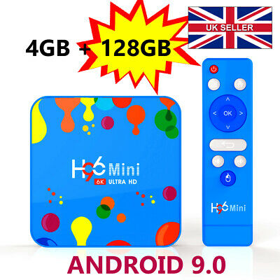 2019 H96 Mini 4GB+128GB Android 9.0 TV Box HD Media Player 4K 2.4G/5GHz WIFI UK
