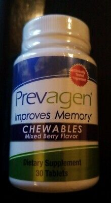 Prevagen Chewables, Improves Memory. Mixed Berry Flavor. 30 Tablets. Sealed