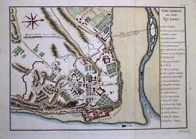 1757 Important Bellin Map of Quebec City