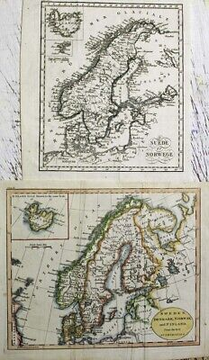 1799 Two Guthrie Maps of Scandinavia, Iceland