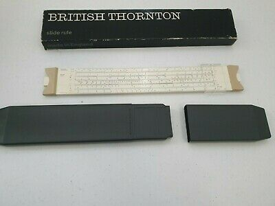 SLIDE RULE A G THORNTON LTD ENGLAND WITH BOX, SLIDER AND CASE  36cm