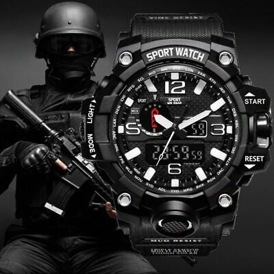 Men's G-Shock Digital Sport Wristwatch Military Army Mens Waterproof Wrist Watch