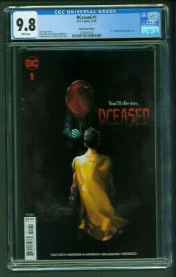 DCeased #1 CGC 9.8 Yasmin Putri Variant Cover IT Horror Movie Homage Edition