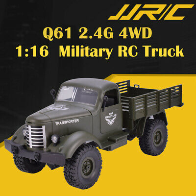 JJRC Q61 1:16 2.4G 4WD RC Off-Road Machine Drive Tracked Military RC Truck Blue