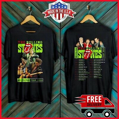The Rolling Stones No Filter Tour 2019 with New Dates T Shirt Full Size S-6XL