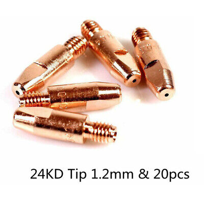 20* MIG Weld Torch 24KD Welding Torch Contact Nozzle Tip Part For Binzel Abicor