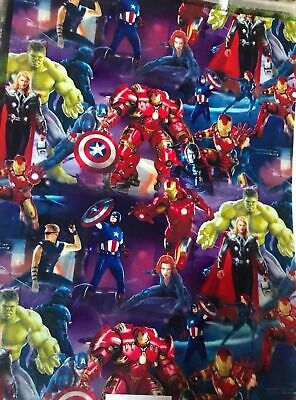 Super heros hydrographic film hydro dipped 50cm width, various sizes Folded