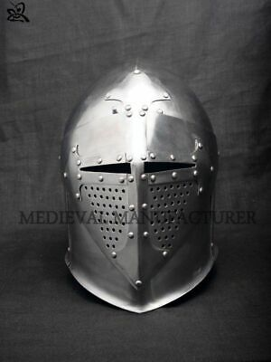 2MM MEDIEVAL MONKEY face bascinet historical helmet armour