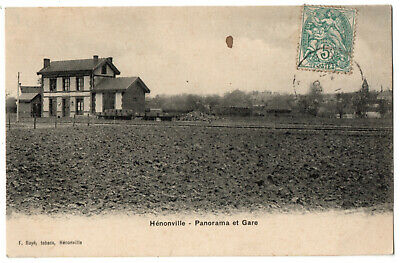 CPA 60 - HENONVILLE (Oise) - Panorama et Gare