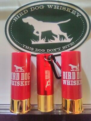 BIRD DOG WHISKEY 12ga SHOTGUN SHELL SHOT glass + flashlight + sticker promo lot