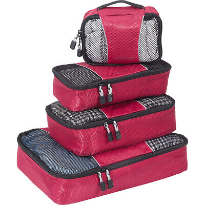 eBags Classic Packing Cubes - 4pc Small/Med Set 5 Colors Travel Organizer NEW