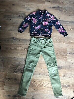 Zara Girls Jeans And Bomber Jacket Bundle Age 8