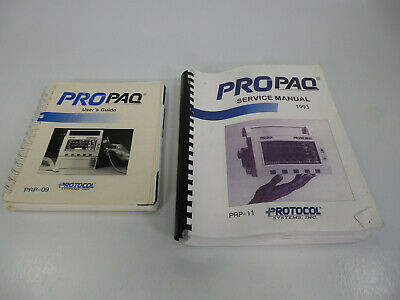 Lot Protocol ProPaq PRP-09 Users Guide & PRP-11 Service Manual (Patient Monitor)