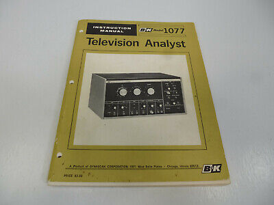 B&K Precision Dynascan Model 1077 Television Analyst Original Instruction Manual