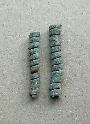 Ancient Viking Bronze Spiral Hair-Beard Green Patina